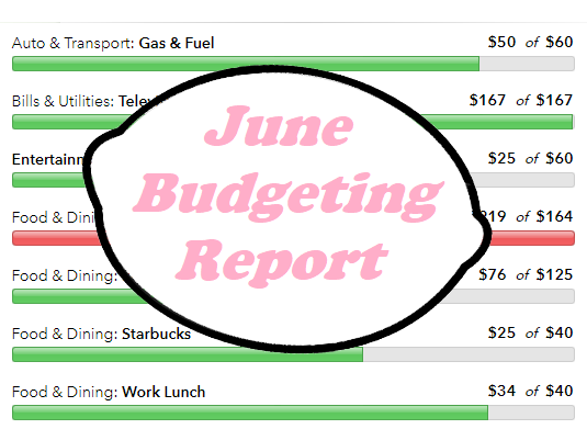 My June Budgeting Report