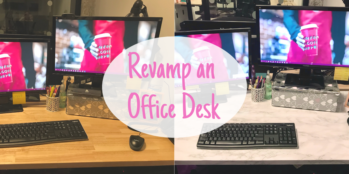 Revamp an Office Desk with Contact Paper
